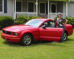 Emily Voshell With Her New Mustang