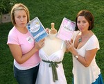 Kiersten Wall (left) and Stephanie Schulte (right), founders of Milkdudz 'Not