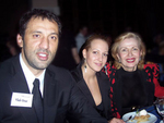 Vlade Divac with MZI Global CEO Mira Zivkovich and her assistant Ana Lazic