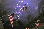 The ceiling of the Registry Room Great Hall with its sparkling stars