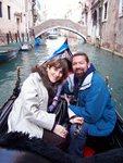 Aida Mayo, president, George McQuade, V.P.,MAYO Communications, on business trip to Venice, Italy.
