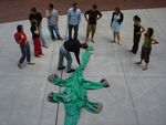 Bronto employees at the crime scene