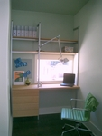 Workspace with Drawers and Shelves