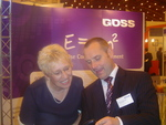Richard George, MD of GOSS, chat with Judith Price, Head of ICT at Teignbridge DC