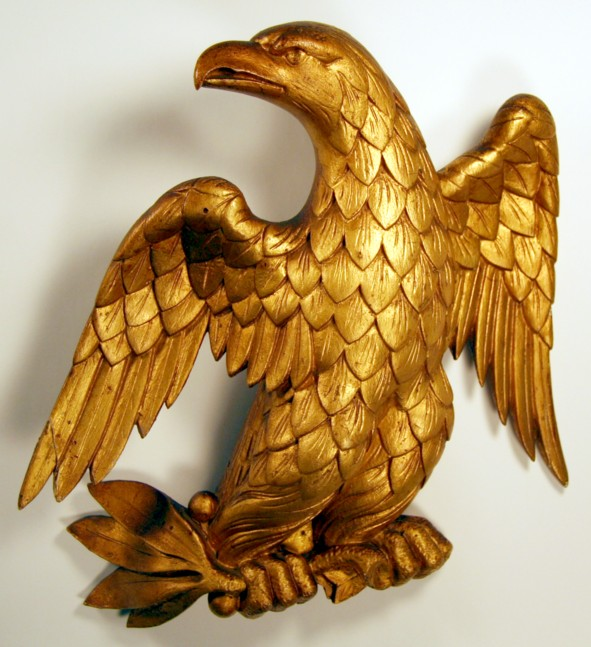 Gold Gilt Carved Wooden Eagle