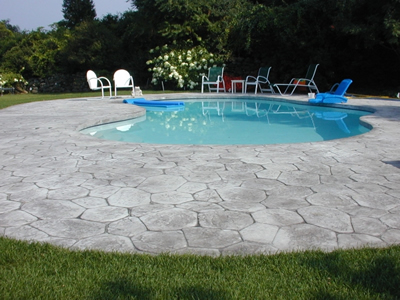 stamped concrete pool deckstamped concrete can transform a pool deckget design ideas in the concrete network