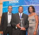 George Lottier (GMSDC Exec. Director), John Carter (Carter Brothers President/CEO)and Lissa Owens (GMSDC Board Chair)