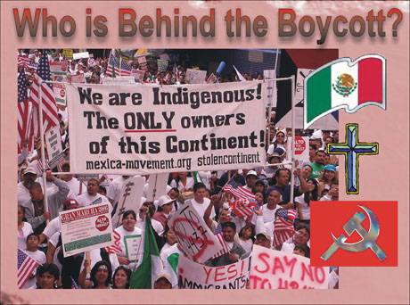 WHO IS BEHIND THE IMMIGRANT BOYCOTT?