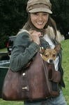 Kelly Hu and Mu Shu in the Monaco Bag by Hedy Manon