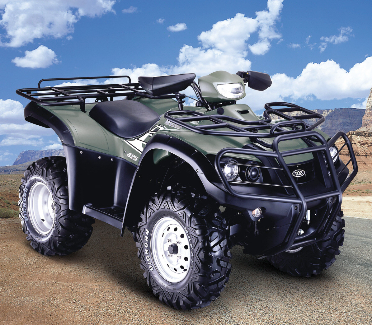 tgb dealerships receive financing from ge 2007 tgb outback 425 4x4 atvtgb s powerful 425 all terrain vehicle comes with 4 wheel drive digital dash and automatic transmission