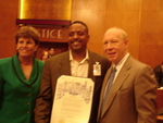 Ted Ellis with Houston Council Member, Sue Lovell and Mayor, Bill White