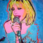 "Courtney Love art entitled ""Cerulean Grunge Muse"" by Olan"