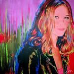 Erin Wasson Supermodel art piece by Olan