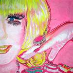 Lady Bunny Drag Queen NYC art piece by Olan
