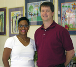 Dawn Giron, Assistant Vice Principal of Northwood Elementary School and Steve Taylor, President of VCG, Inc.