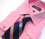 100% Cotton Pink Shirt from TheTieBar.com