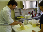 Guests learn to make fresh pasta