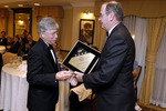 David Bateman, Portland Harbor Hotel Co-Owner, receiving the 2006 Four Diamond Award from Thomas Kinley, President/CEO of AAA Northern New England