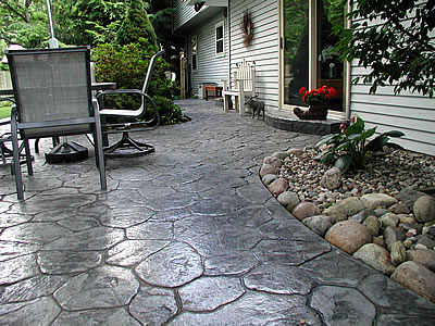 Concrete Patios Can Be Shaped, Colored And Patterned To Fit The Existing  Landscape. Photo Courtesy Of L.L. Geans Construction Co.