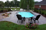 Personalize your pool deck with decorative concrete