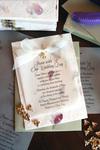 Petal Paper Wedding Invitation with Bee Charm