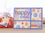 Say 'happy birthday' with a printable greeting card from Card Delights Collection Volume 1.