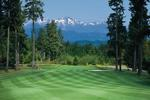 Alderbrook Golf & Yacht Club and majestic Olympic Mountains
