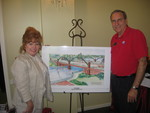 Sherry and Don Burns at Telfair Open House