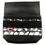 Inside view of SECCO's On The Road Cosmetic Bag made from recycled car tire inner tubes