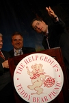 (l-r) Jim Gianopulos, Chairman, Fox Filmed Enteratinment, and Tom Rothman, Chairman, Fox Filmed Entertainment salute Gabler on her award at The Help Group's 29th Annual Teddy Bear Picnic in Beverly Hills, CA on June, 8, 2006.