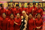 Heather Sc hmid with fans in YueYang China