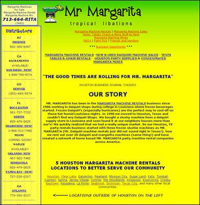 margarita machine rental league city tx