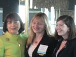 Eriksen President & CEO Vigdis Eriksen with WPEO's Marsha Firestone and Camille Burns