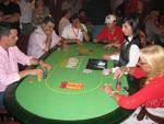 Mesa en el Primer Campeonato de España de Póquer