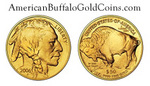 Gold Buffalo Coin - Actual Size