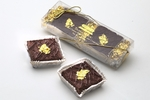 Gift box of two dark Belgian chocolate 23 carat Egyptian Gold Truffle Gateaux