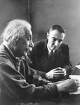Albert Einstein and J.Robert Oppenheimer, Institute for Advanced Study, Princeton, 1947 ©Time Incl