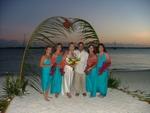 A beach wedding at Chat 'N' Chill on Stocking Island, Exuma, Bahamas
