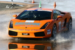 Lamborghini Gallardo navigates the skidpan at recent NSW round