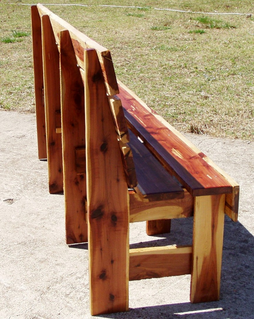 Cedar Garden Bench Handcrafted At 8 Ft Long Picture To Pin On Pinterest Thepinsta