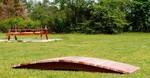 garden footbridge and Picnic table