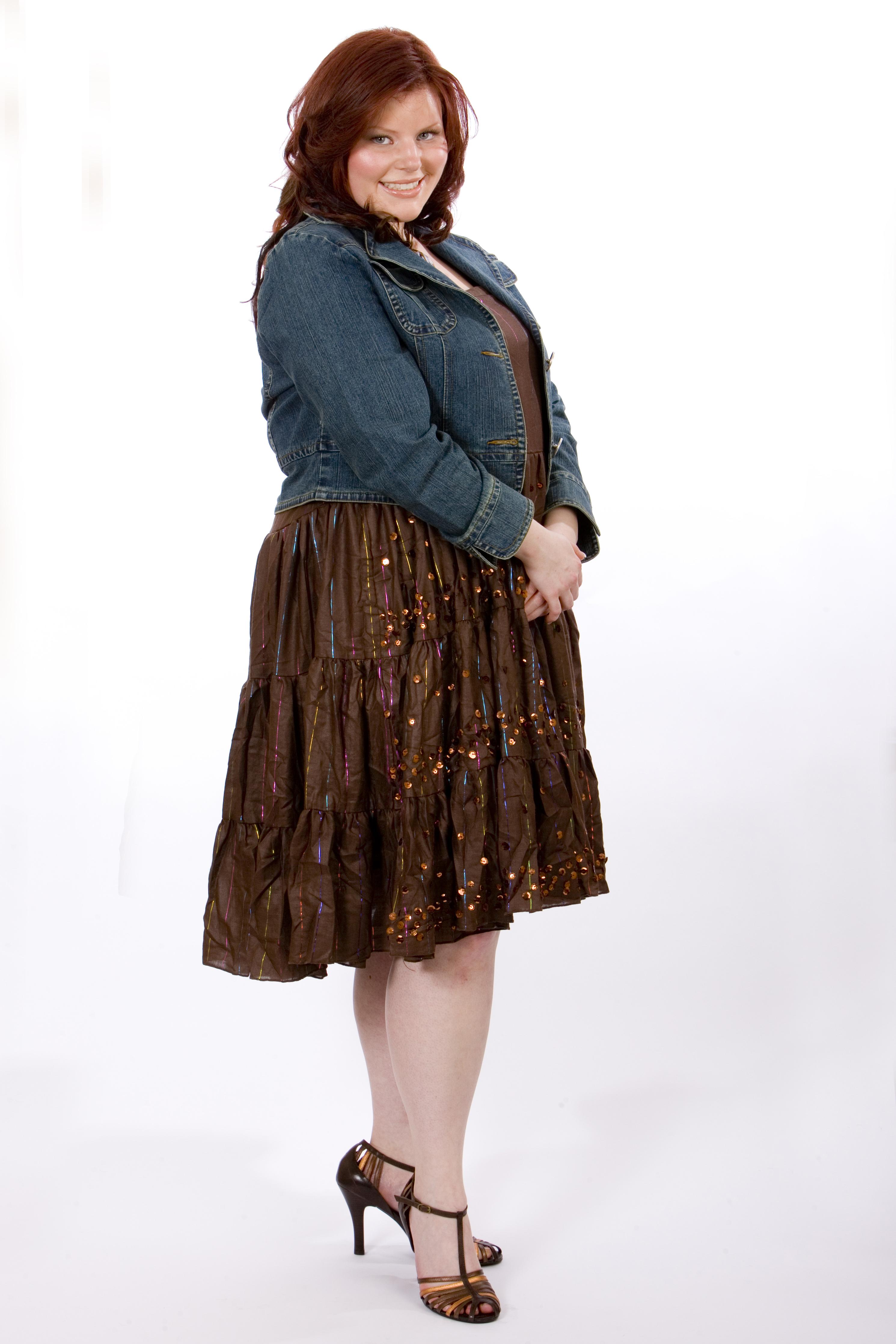 Sexy Plus Size Fashions. ki-ke Cropped Denim Jacket paired with ki-ke ...