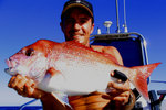 Dan Trotter with Snapper