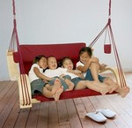Outback Double Lounger: Burgundy