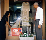 Congressional candidate Hank Johnson meets with Rockdale County community leader Kathy Garvey in Conyers, GA, on July 11, 2006.  Johnson is challenging Rep. Cynthia McKinney (GA-4).