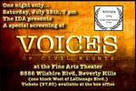 IDA presents a special screening of VOICES OF CIVIL RIGHTS, A Film by Jeffrey Tuchman