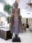 Antique Amarapura 10' Standing 18th Century Buddha Pre 2004 Tsunami to Be Auctioned in Lubbock Texas on July 23, 2006