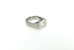 Mens 17ct. Yellow Cushion Solitaire Ring in Lubbock Auction