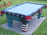 American Flag Themed Table