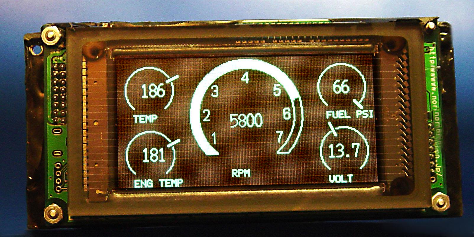 Custom Digital Gauge Cluster : Innovative function marine and automotive digital gauge